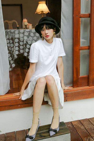 summer linen dress (white)