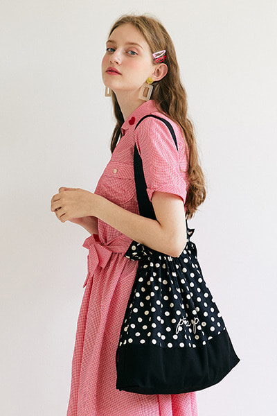 dot eco bag (black)