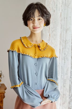ROCOCO KNIT BLOUSE (YELLOW)