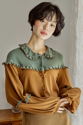 ROCOCO KNIT BLOUSE (MINT)