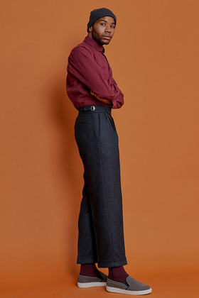 formal trouser wide fit (winter charcoal)
