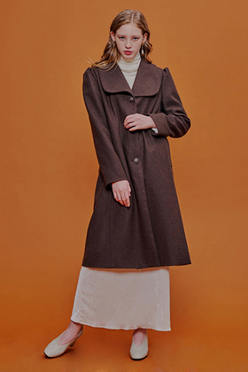retro mood coat(brown)