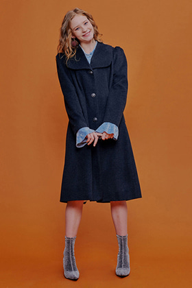 retro mood coat(charcoal)
