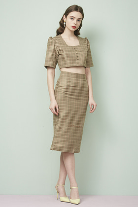 retromantic skirt (brown)