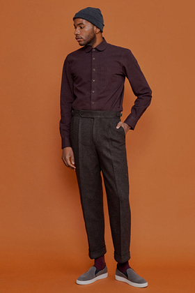 formal trouser wide fit (winter tweed)