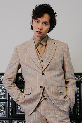 SINGLE BREASTED JACKET _ BEIGE