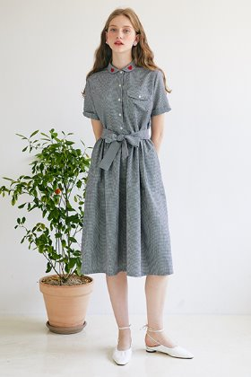 Blooming Dress _ Navy