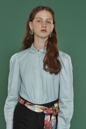 pintuck shirts blouse (blue)