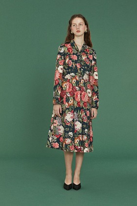 flower garden dress (navy)
