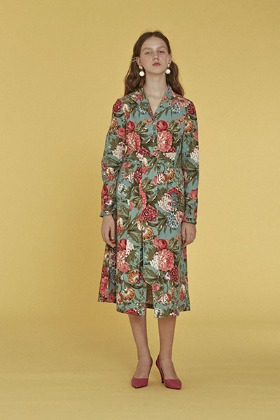 flower garden dress (mint)
