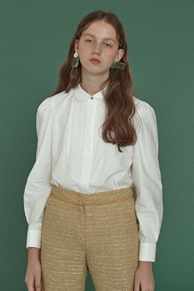 pintuck shirts blouse (white)