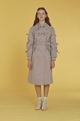 ribbon trench coat (lavender)