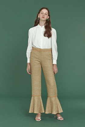 twinkle tweed pants (green)