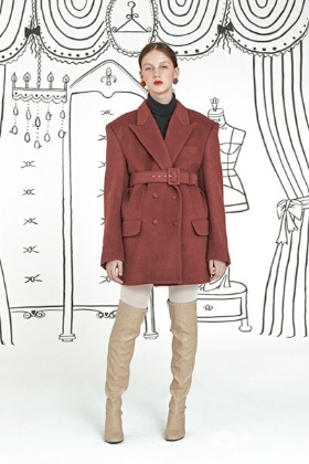 tailor made coat (wine)