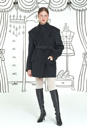 tailor made coat (black)
