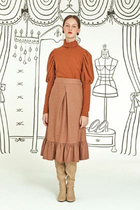 grace full skirt (brown)