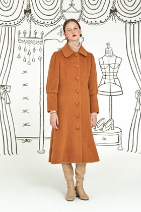 fine lady alpaca coat (orange)