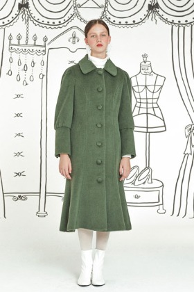 fine lady alpaca coat (green)