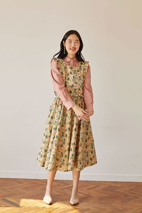 rose full skirt (beige)