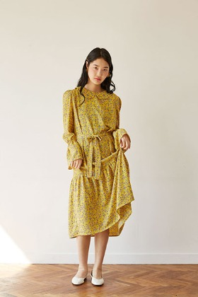 bell flower dress (yellow)