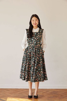 rose full skirt (black)