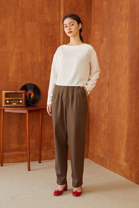 bloomer pants (brown)