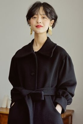 [8차 리오더] ROCOCO SINGLE BREASTED COAT (BLACK) _11/25 출고예정